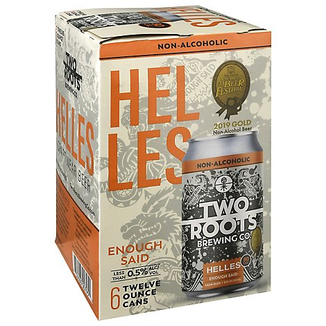 Two Roots Enough Said Helles Non-alcoholic In Cans - 6-12 FZ