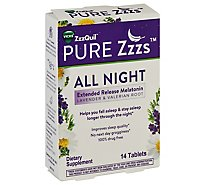 Vicks Zzzquil Pure Zzzs All Night Tablets - 14 CT