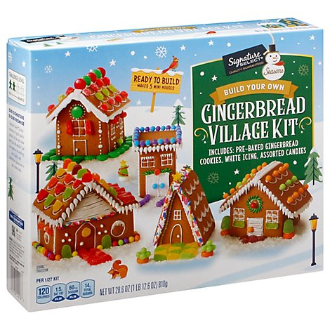 Signature Select Seasons Gingerbread Village Kit - 28.6 OZ