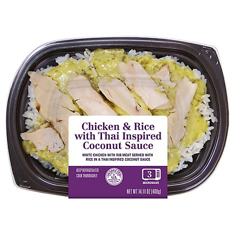 Chicken & Rice With Thai Inspired Coconut Sauce - 14.11 OZ