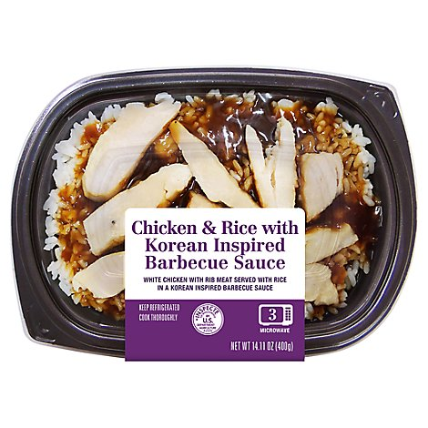 Chicken & Rice With Korean Inspired Barbecue Sauce - 14.11 OZ