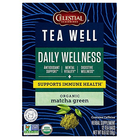 Teawell Tea Matcha Greenmatcha Green Hrb - 12 CT