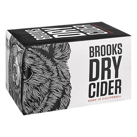 Brooks Dry Cider In Cans - 6-12 FZ