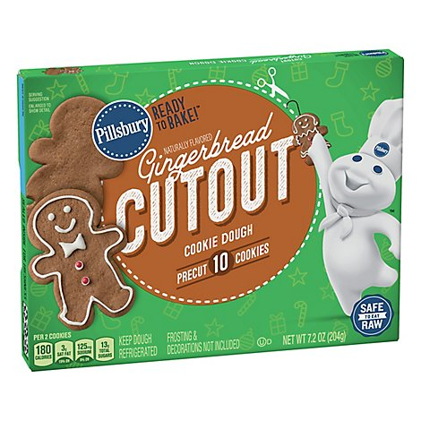 Pillsbury Ready To Bake Gingerbread Cut Out Cookies - 7.2 OZ