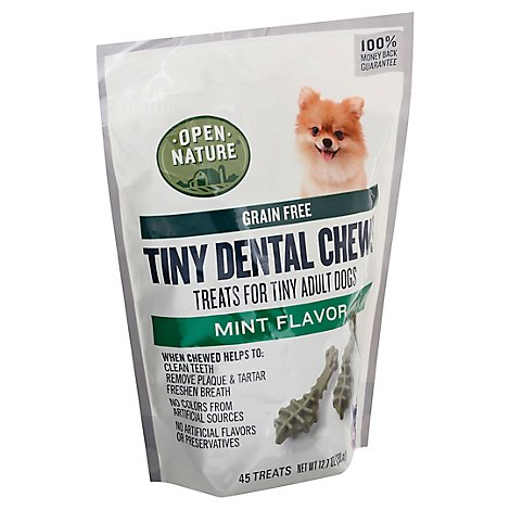Open Nature Dog Treats Dental Mint Chew Tiny - 12.7 OZ