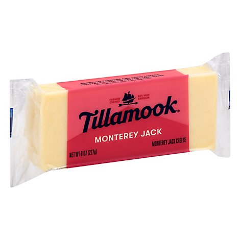 Tillamook Monterey Jack Set Weight Chunk Cheese 8oz - 8 OZ