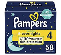 Pampers Swaddlers Overnights Diapers Size 4 - 58 CT