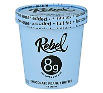 Rebel Ice Cream Chocolate Peanut Butter - 1 PT