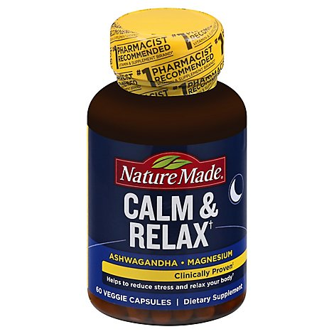 Nature Made Dietary Supplement Calm & Relax - 60 Count
