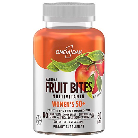 One A Day Fruit Bites For Women 50 Plus - 60 CT