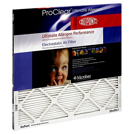 Dupont Ultimate Allergen Pro Clear 20x20x1 - EA
