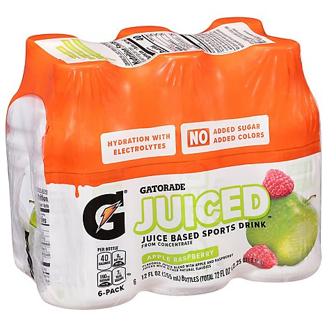Gatorade Juiced Apple Raspberry 6pk - 6-12 FZ