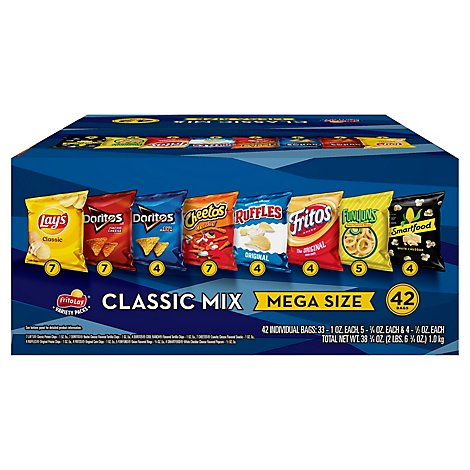 Frito Lay Snacks Classic Mix Cube - 38.75 OZ