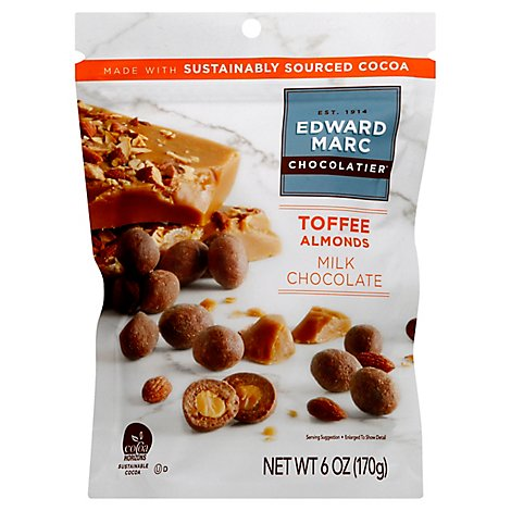 Edward Marc Milk Chocolate Toffee Almonds - 6 OZ