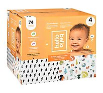 Hello Bello Club Box Diapers Size 4 Bolt Babes - 74 CT