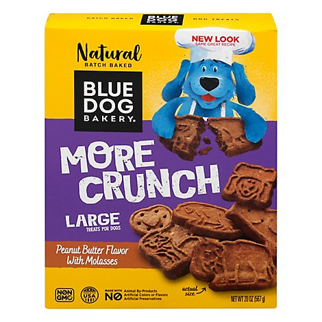 Blue Dog Bakery Peanut Butter & Molasses Dog Snacks - 20 OZ