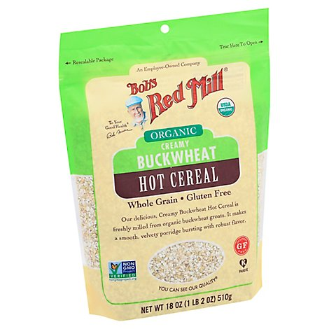 Bobs Red Mill Cereal Bkwht Crmy Org Hot - 18 OZ