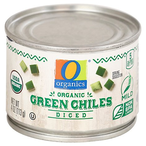 O Organics Green Chiles Diced - 4 OZ
