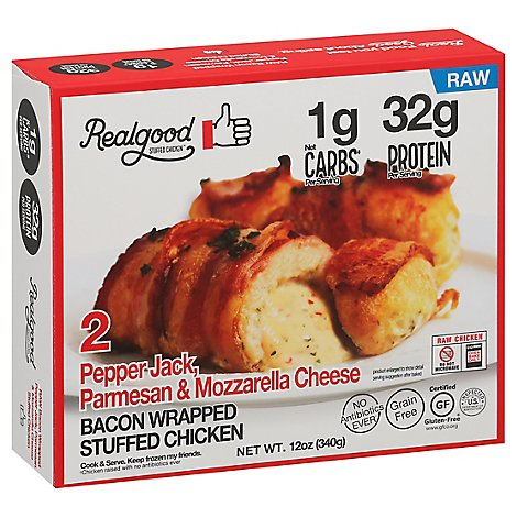 Realgood Chicken Bacon Wrapped Pepper Jack - 12 OZ