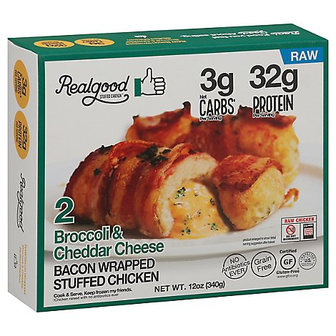 Realgood Chicken Bacon Wrapped Broccoli & Cheddar - 12 OZ