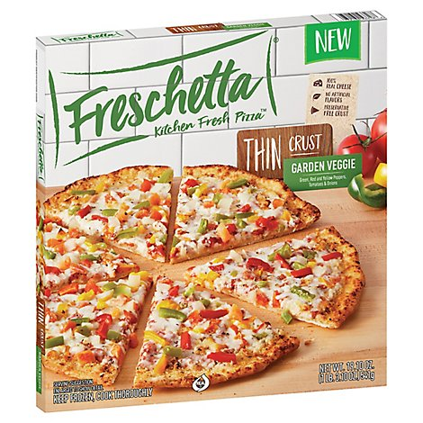 Freschetta Thin Crust Pizza Vegetable - 19.1 OZ