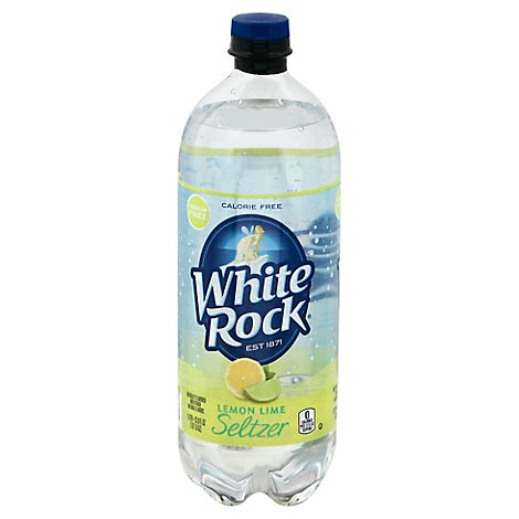 White Rock Seltzer Lemon Lime - 1 LT
