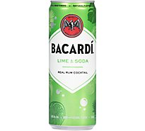 Bacardi Lime & Soda Cans - 4-12 FZ