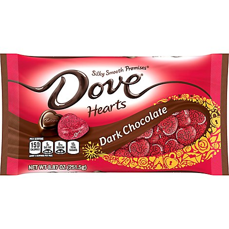 Dove Promises Chocolate Candy Dark Chocolate Valentines Day Hearts - 8.87 Oz