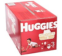 Huggies Little Snuggler Giga 3 - 76 CT