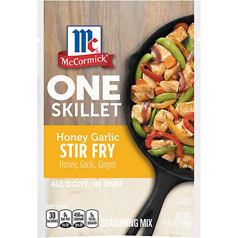 McCormick One Skillet Seasoning Mix Honey Garlic Stir Fry - 1.25 Oz