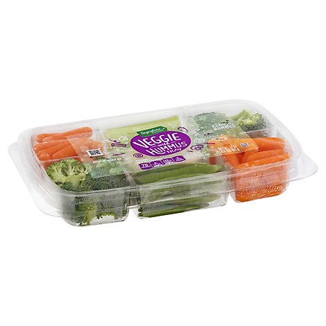 Signature Farms Hummus Veggie Tray W/dip - 17 OZ