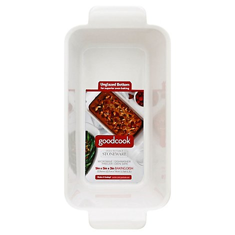 Good Cook Ceramic Loaf Pan 9inch White - EA
