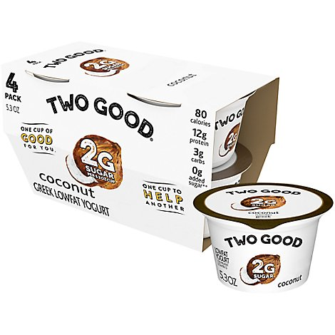 Good Brand Two Good Coconut Greek Yogurt - 21.2 OZ