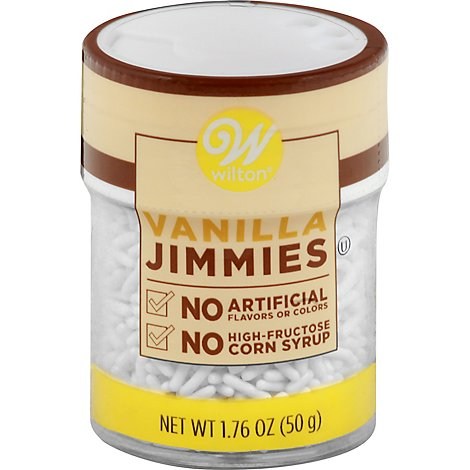 Wilton Vanilla Jimmies - 1.76 OZ