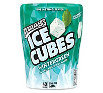 Ice Breakers Ice Cubes Wintergreen Flavored Gum Bottle Pack - 3.24 OZ