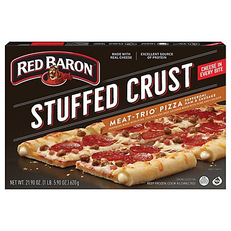Red Baron Stuffed Crust Pizza 3 Meat - 21.9 OZ