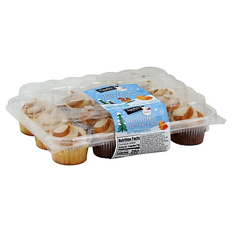 Signature Select Seasn Cupcakes Saltd Caramel Mini - 10 OZ