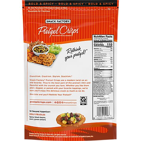 Snack Factory Pretzel Crisps Buffalo - 14 OZ