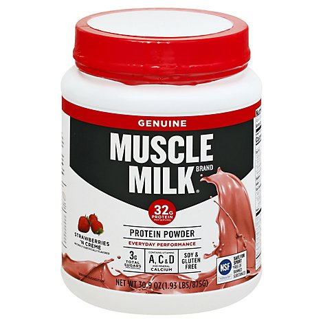Muscle Milk Strawberries N Creme Protein Powder - 1.93 LB