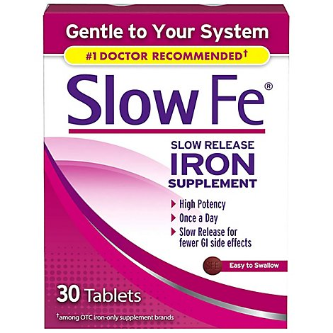 Slow Fe Slow Release Iron 45mg - 30 CT