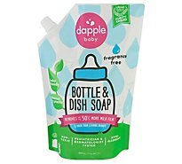 Dapple Bottle & Dish Soap Refill Pack Fragrance-free - 34 FZ