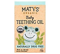Maty's Organic Baby Teething Oil - .75 OZ