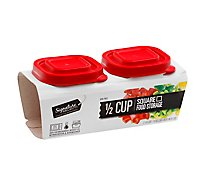 Signature Select Food Storage Square Half Cup - 2 CT