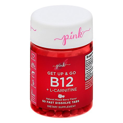 Pink Get Up & Go B12 Plus L-carnitine - 50 CT