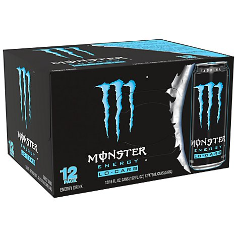 Monster Energy Drink Lo Carb - 12-16 Fl. Oz.