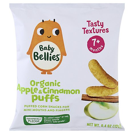 Baby Bellies Organic Apple Cinnamon Puffs - .4 OZ