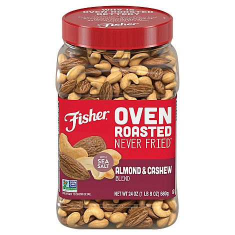 Isher Oven Roasted Never Fried Almond & Cashew Blend With Sea Salt 24 Ounce - 24 OZ