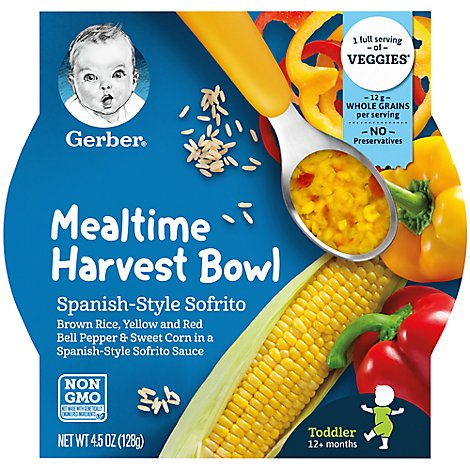 Gerber Meal Bowl Spanish Sofrito - 4.5 OZ