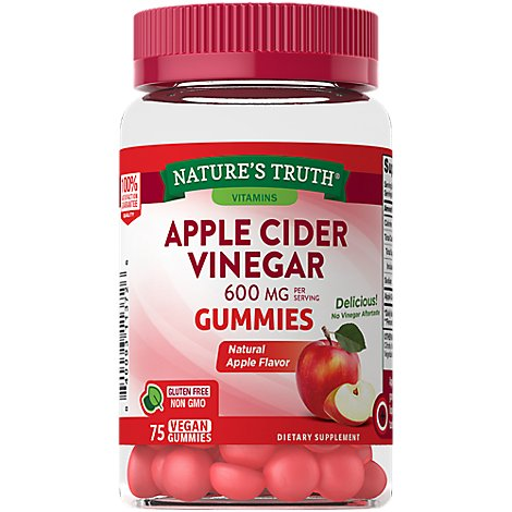 Natures Truth Apple Cider Vinegar Gummies 600mg - 75 CT