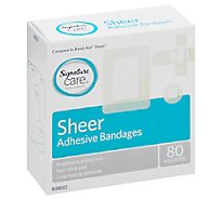 Signature Care Bandages Sheer Assorted - 80 CT